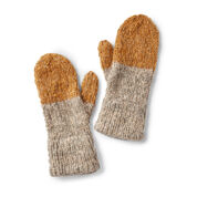 Patons Double Cuffed Knit Mittens