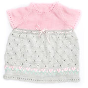 Bernat Cozy Posie Dress, 6 mos