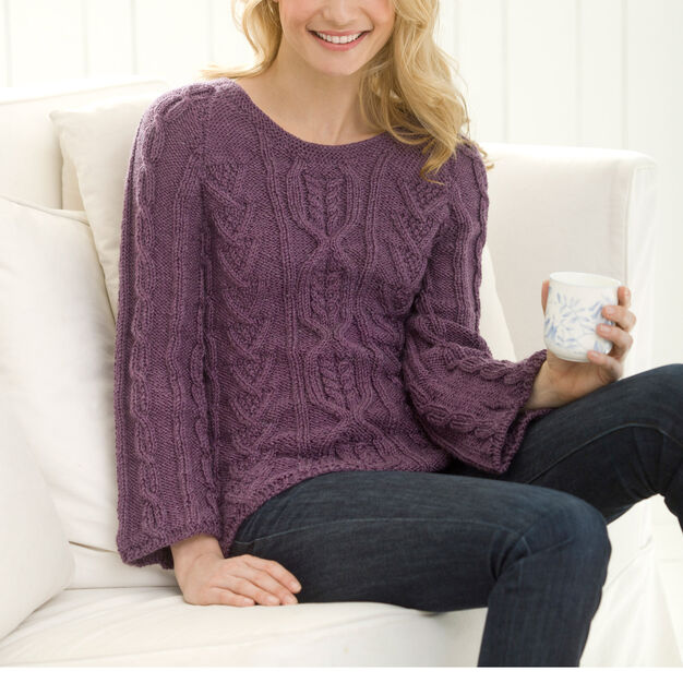 Red Heart New Aran Sweater, S in color