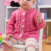 Red Heart Seeds of Spring Baby Cardi, 6 mos