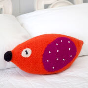 Red Heart Bird Up Pillow