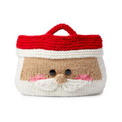Red Heart Jolly Santa Knit Basket