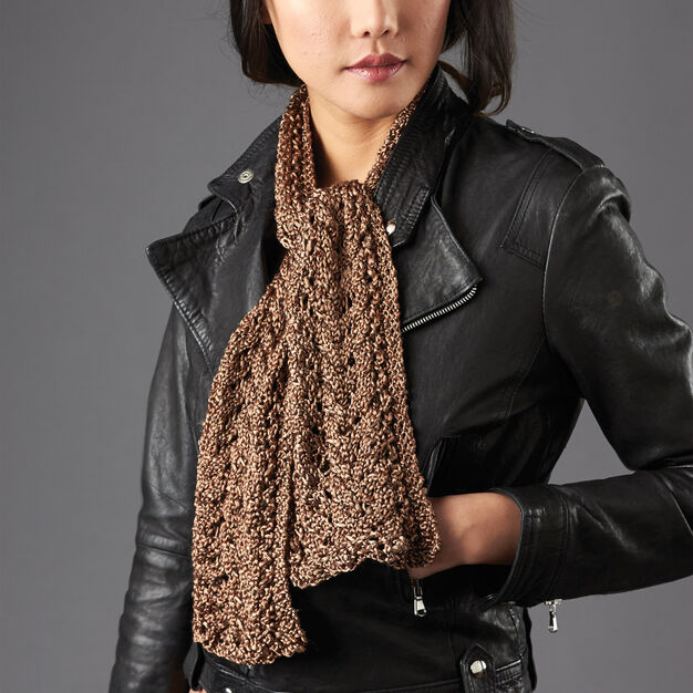 Patons Lace and Cable Detail Scarf in color