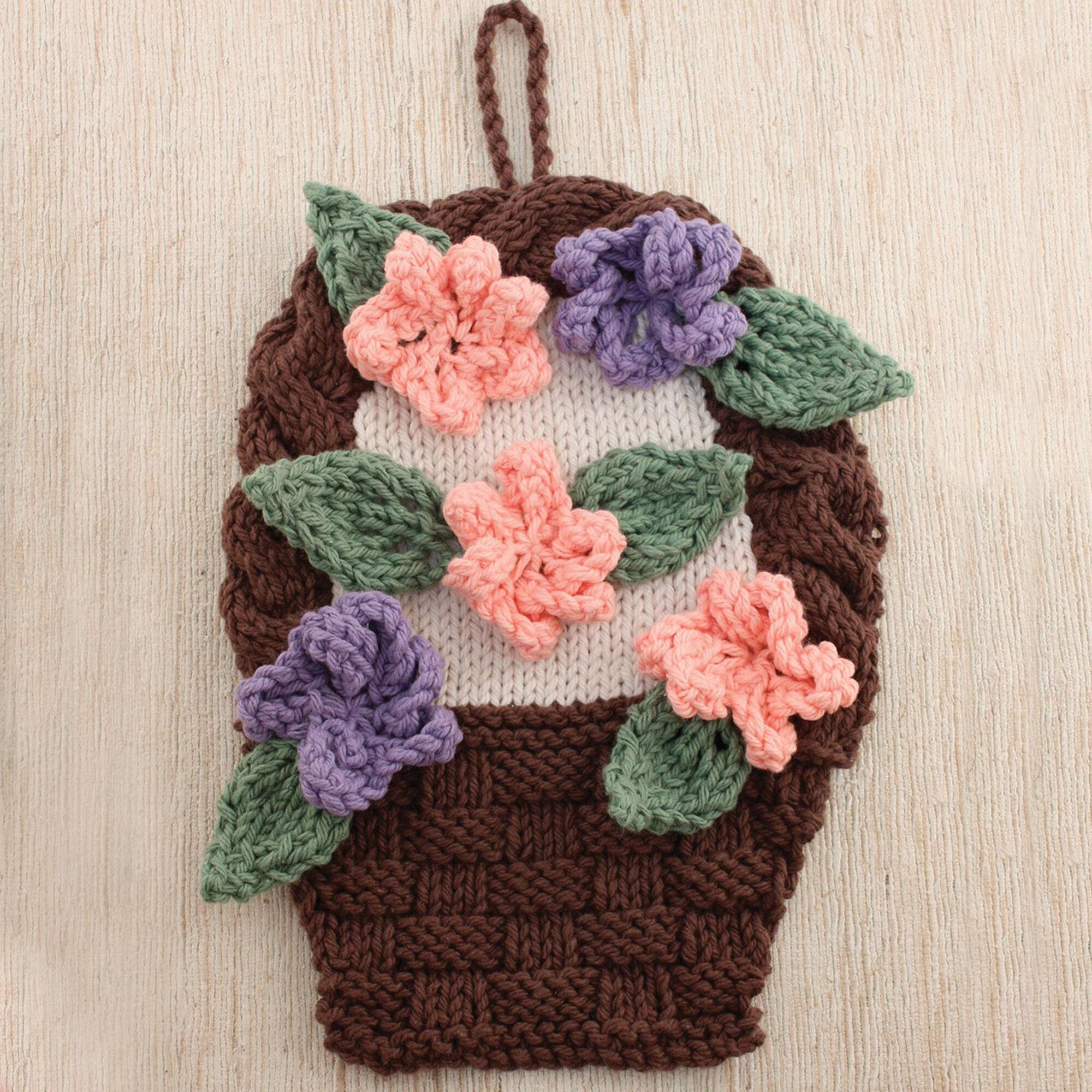 Lily Sugarn Cream Flower Basket Dishcloth Yarnspirations
