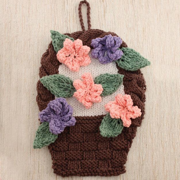 Lily Sugar'n Cream Flower Basket Dishcloth
