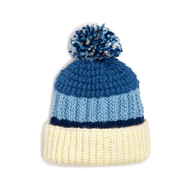 Caron Textured Knit Hat in color