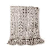 Bernat Rose Leaf Knit Blanket
