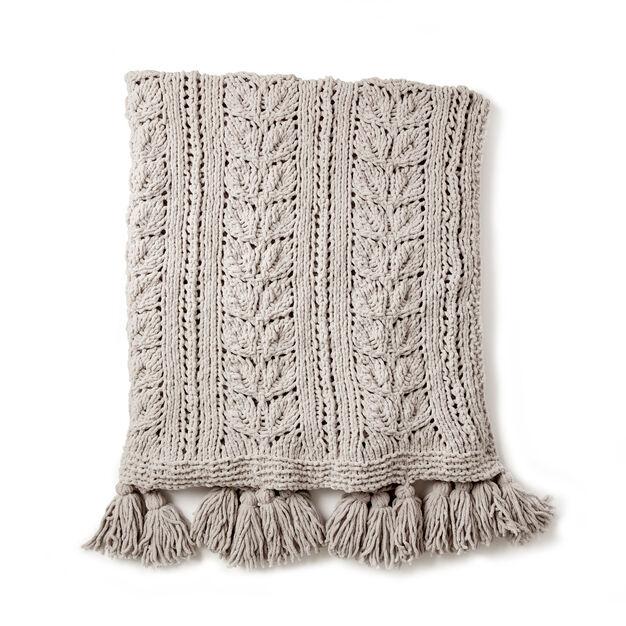Bernat Rose Leaf Knit Blanket Pattern Yarnspirations