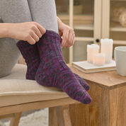 Red Heart Slip Rib Socks, 3/6