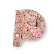 Bernat Crochet Velveteen Rabbit Hat, 6-12 mos.