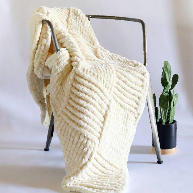 Bernat Giant Basketweave Crochet Throw in color