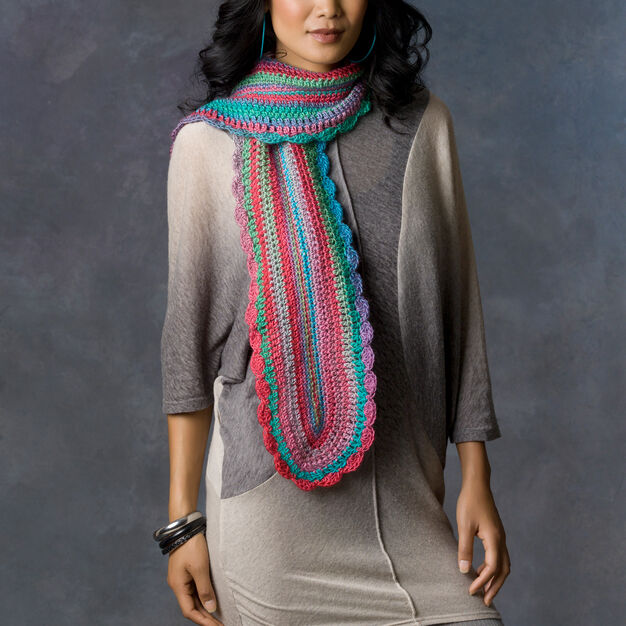Red Heart Learn Your Stitches Scarf in color