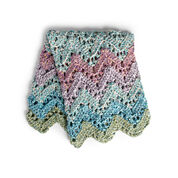 Bernat Peaks & Valleys Crochet Blanket