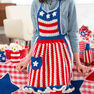 Red Heart Betsy Ross Patriotic Apron in color  Thumbnail Main Image 2}