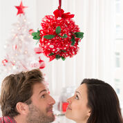Red Heart Holiday Kissing Ball