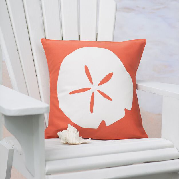Dual Duty Sand Dollar Pillow in color