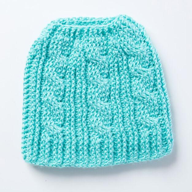 Caron Twist Stitch Messy Bun Crochet Hat  d0695ad723f