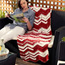 Bernat Ripples in the Sun Crochet Blanket in color  Thumbnail Main Image 2}