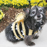 Red Heart Dog's Crochet Bumble Bee Costume, S