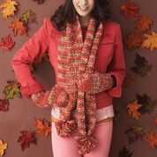 Go to Product: Bernat Quick and Cozy Set, Scarf & Mittens in color