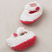 Red Heart Coral Cutie Hat & Booties, 3/6 mos