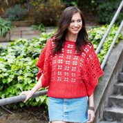Red Heart Clementine Chic Sweater, XS