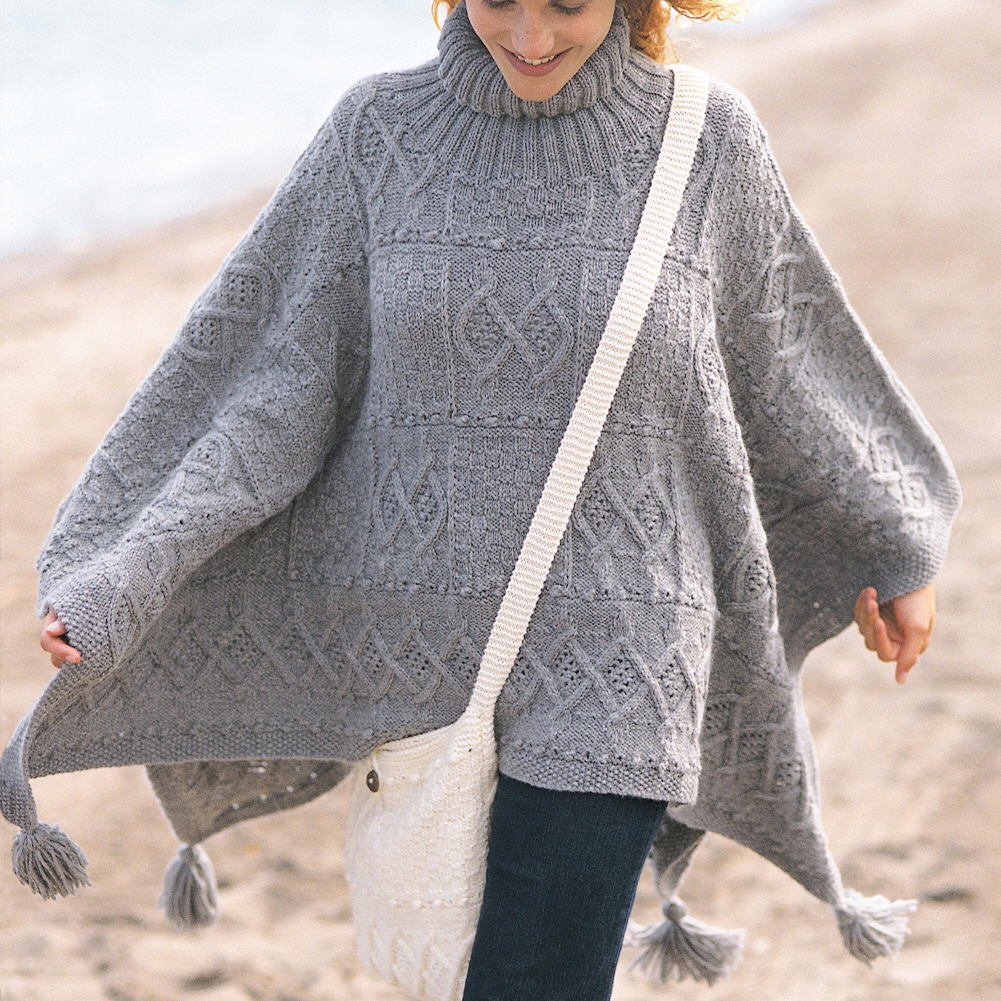 Patons Blanket Poncho and Bag | Yarnspirations