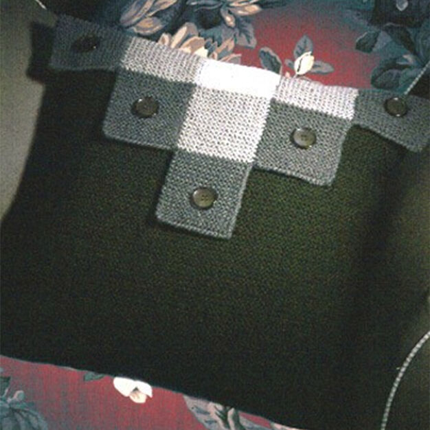 Patons Buttoned Blocks Pillow