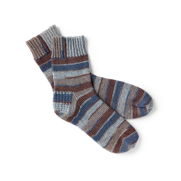 Patons Family Crochet Socks, Kids - Size 2-4 in color