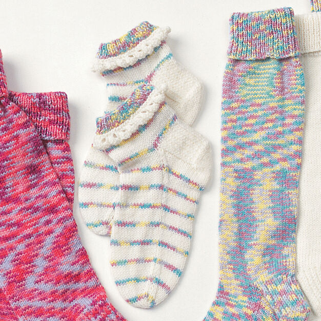 Patons Child's Pretty Ruffles Socks, 2-4 yrs in color