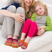 Red Heart Mom and Me Slippers, S