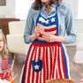 Red Heart Betsy Ross Patriotic Apron in color  Thumbnail Main Image 1}