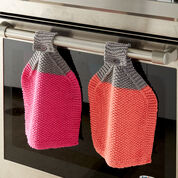 Bernat At Your Service Knit Dishcloth, Hot Pink