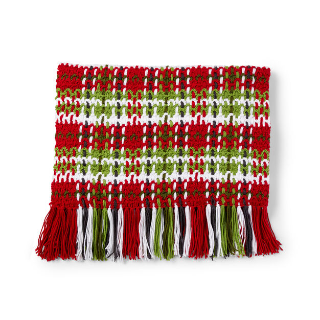 Caron Plaid Christmas Blanket in color