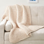 Bernat Seed Stitch Throw