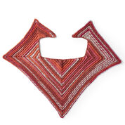 Red Heart Crochet Sunset Mitered Shawl