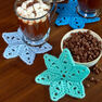 Red Heart Star Coasters in color
