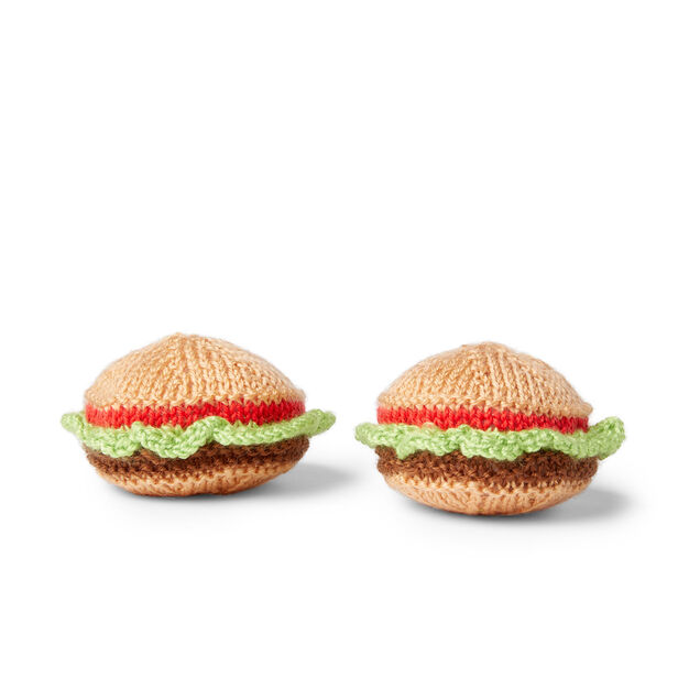 Red Heart Tasty Crochet Hamburgers in color