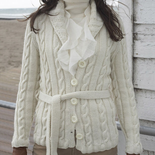 Patons Cabled Cardigan, XS