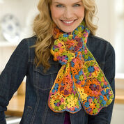 Red Heart Multi Motif Scarf