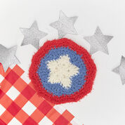 Red Heart Patriotic Crochet Washcloth