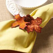 Coats & Clark Fall Foliage Napkin Rings