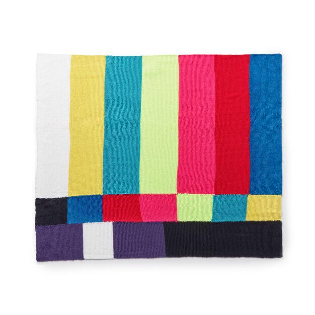 Caron TV Party Knit Blanket