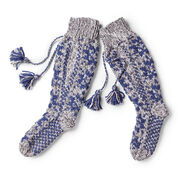 Go to Product: Bernat Fair Isle Twist Knit Slipper Socks, 5/6 in color