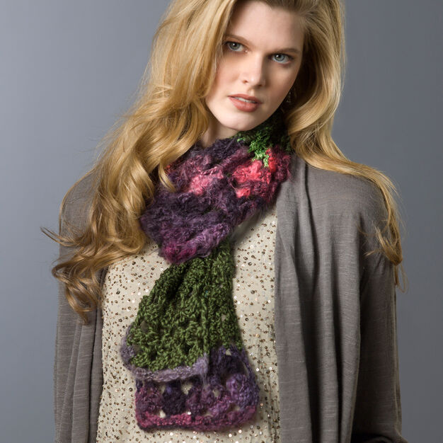Red Heart Spectrum Scarf in color