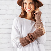 """Go to Product: Red Heart Knit Ombre Arm Warmers, Wrist: 6"""" in color"""