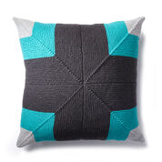 Caron Mighty Mitered Knit Pillow