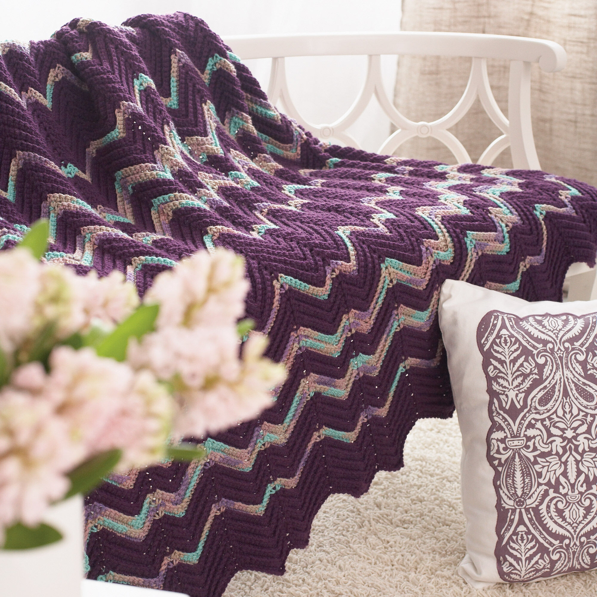 Ripple Afghan Crochet Pattern Simple Design Inspiration