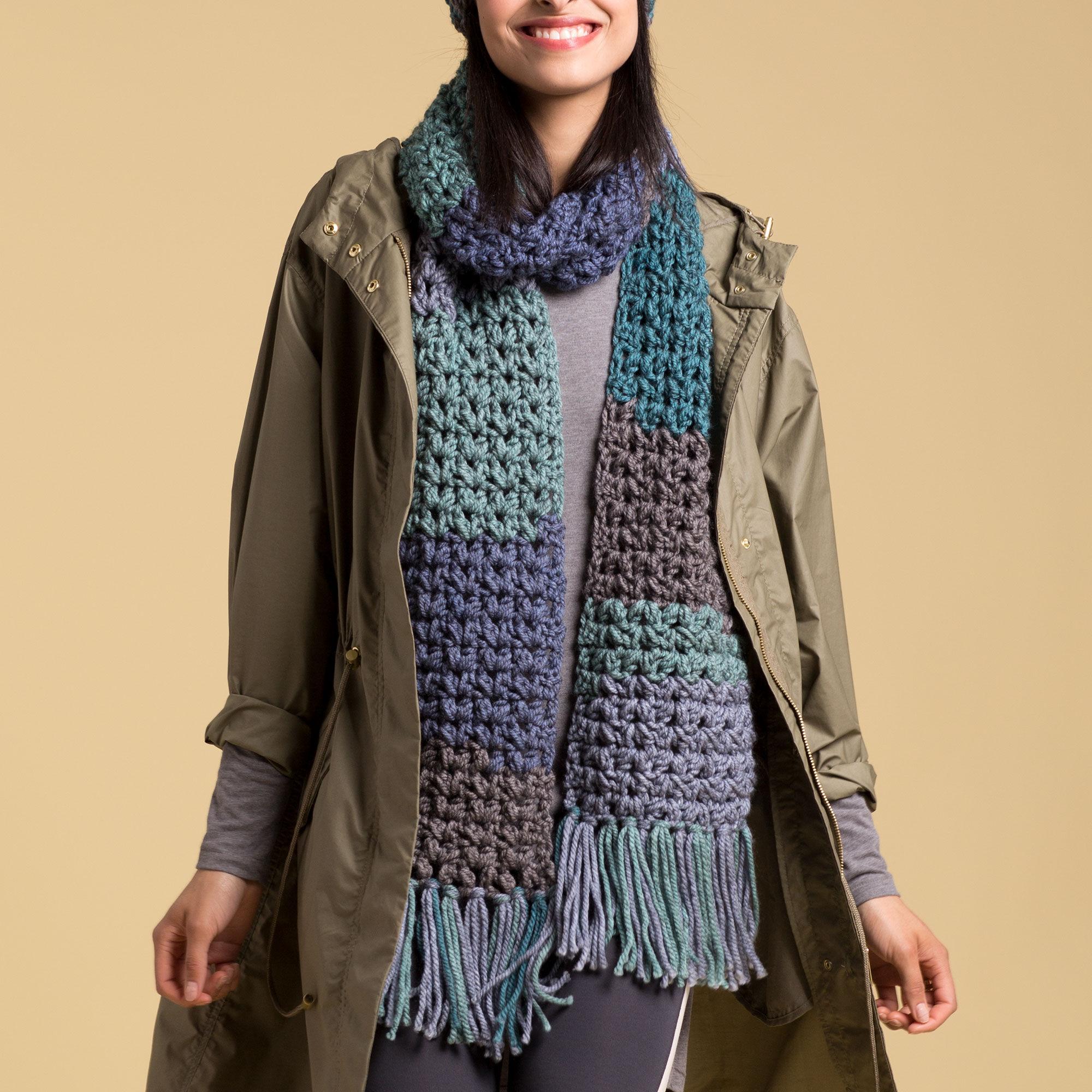 Caron Crochet Winter Scarf Pattern Yarnspirations