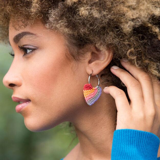 Aunt Lydia's Tunisian Hoop Earrings in color